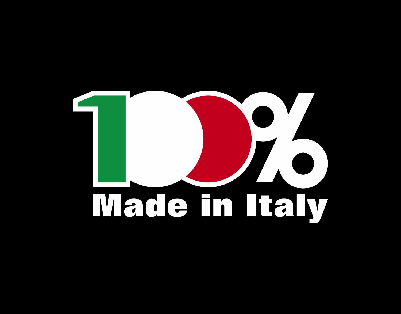 Logo 100% made in italy – agenzia di comunicazione kbrush black