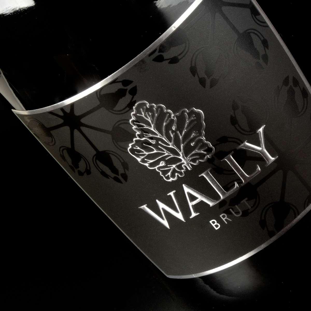 progettazione etichetta wally cantina le colline studio kbrush