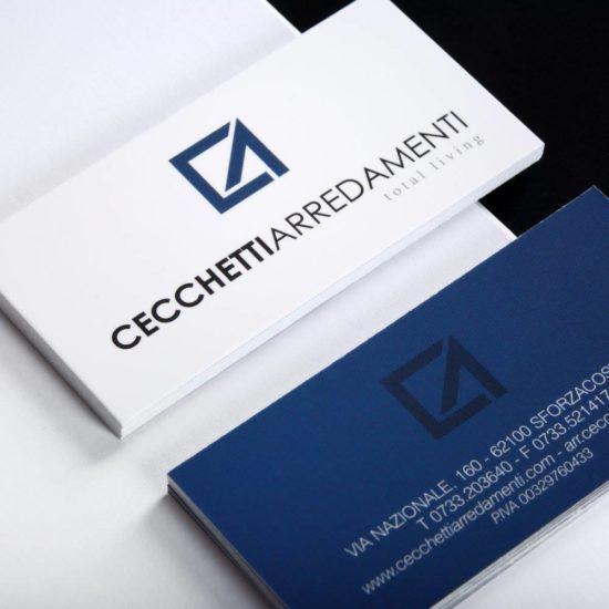 Cecchetti Arredamenti - Progettazione Grafica Biglietti da Visita Logo e Cartelline