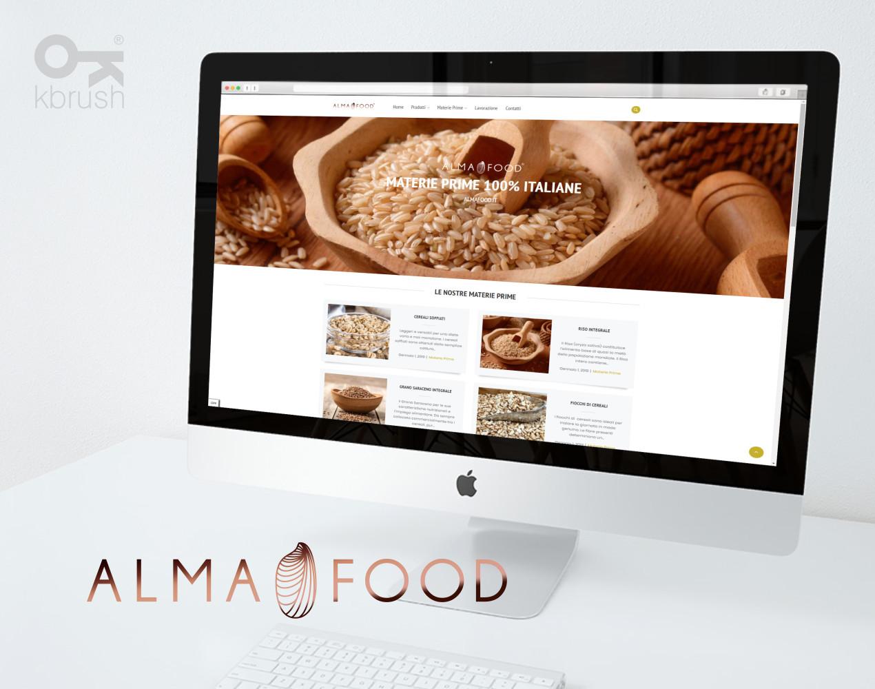kbrush Studio grafico – Alma Food Sito 2