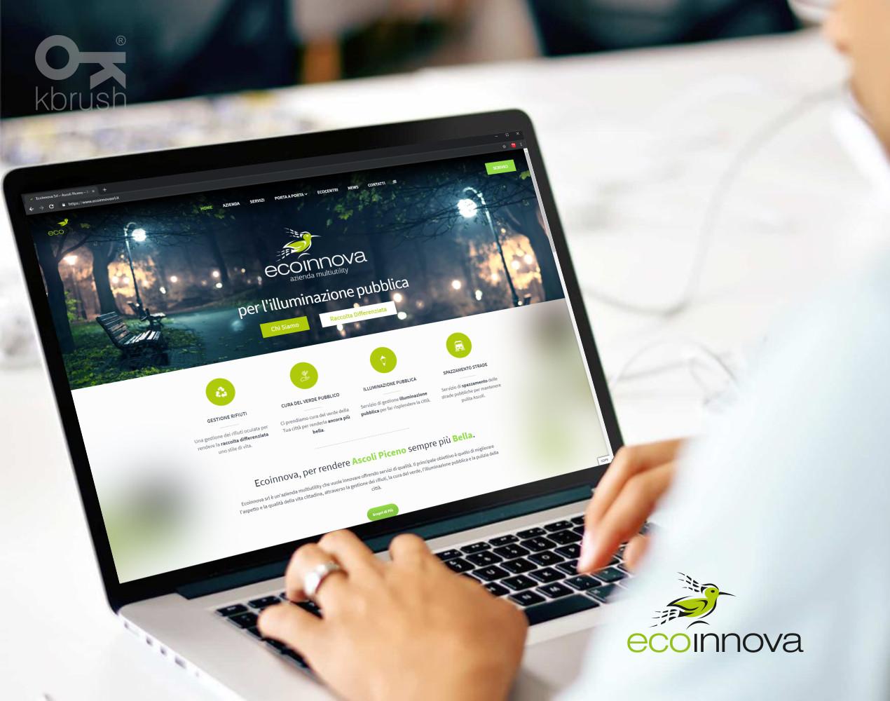sito web Ecoinnova – Kbrush Studio grafico