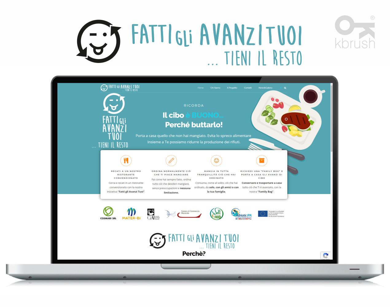 sito web Fatti gli Avanzi – Kbrush Studio grafico