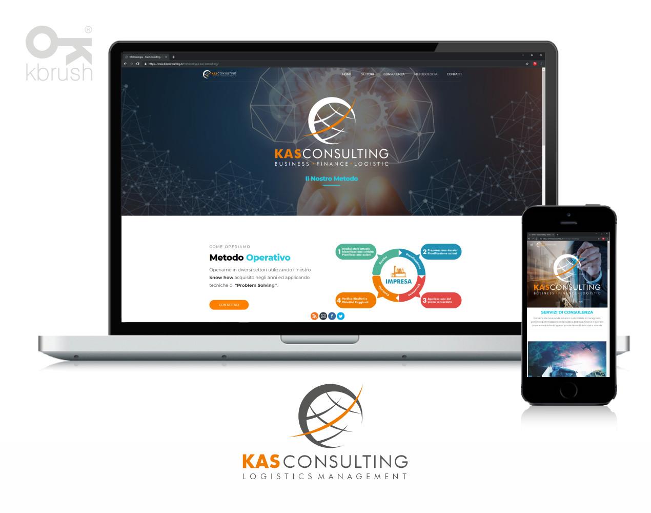 sito web Kas consulting – Kbrush Studio grafico