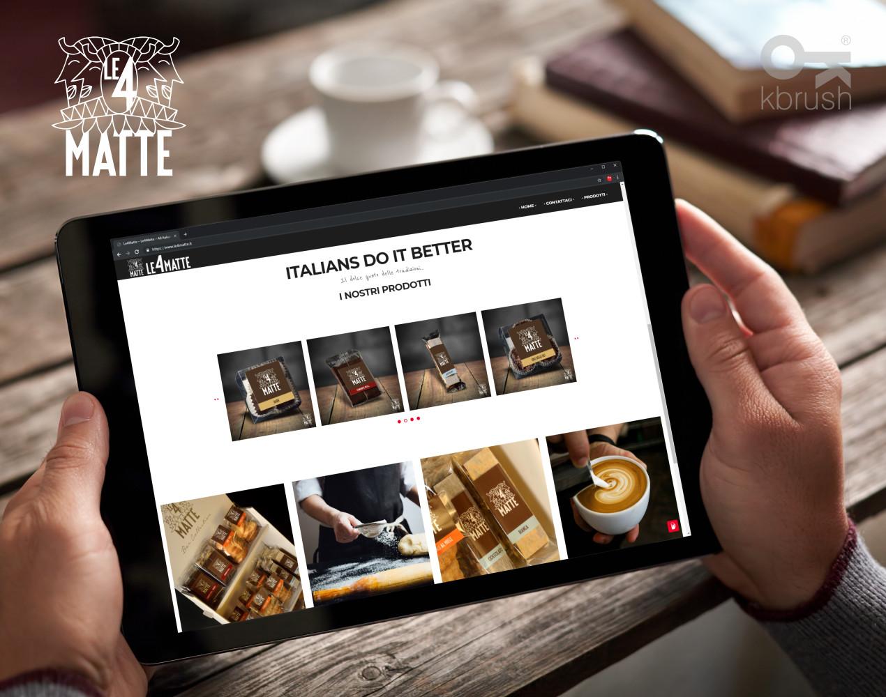 sito web Le4Matte 2 – Kbrush Studio grafico