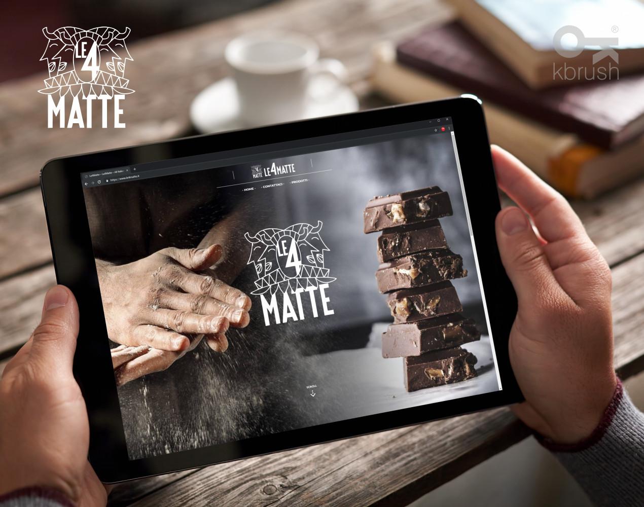 sito web Le4Matte – Kbrush Studio grafico