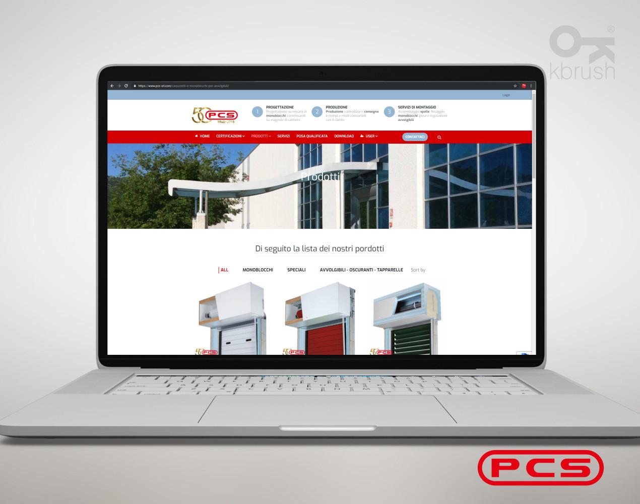 sito web PCS 2 – Kbrush Studio grafico