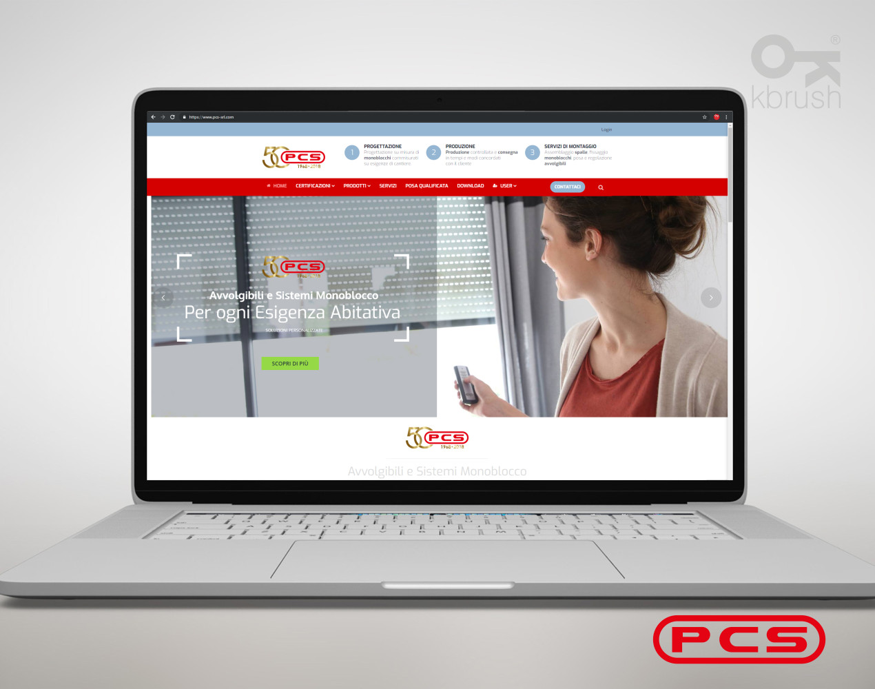 sito web PCS – Kbrush Studio grafico
