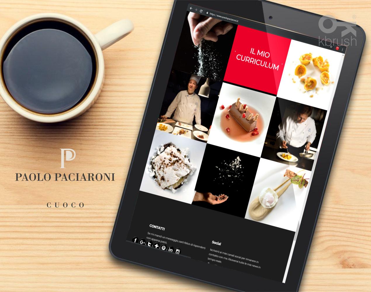 sito web Paolo Paciaroni – Kbrush Studio grafico